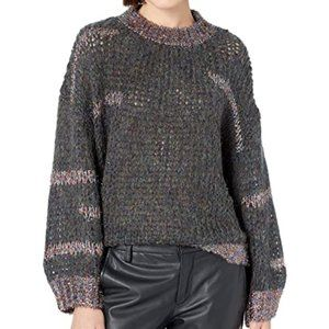 NWT Oversized Scoop Neck Mohair Knit Sweater
